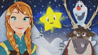 Twinkle twinkle Little Star Olaf and Sven Frozen 🌟 Anna Elsa Olaf and Sven Frozen