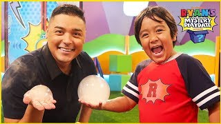 Ryan Makes Giant Bubbles on Ryan's Mystery Playdate Episode!!!
