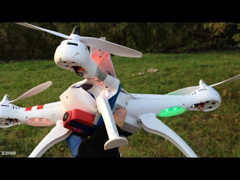 Лучшее с Алиэкспресс Квадрокоптер с камерой Bayangtoys x16 с БК моторами!
