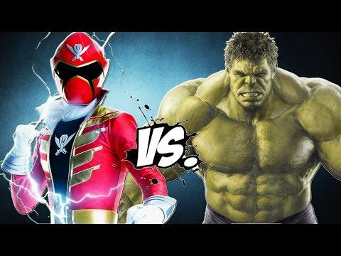 The Incredible Hulk vs Red Super MegaForce (Power Ranger)