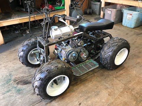 rebuilding the two speed mini green ATV part 2