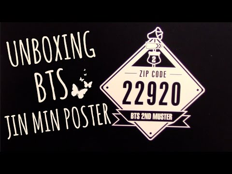 download lagu UNBOXING BTS 방탄소년단 2nd Muster Mini Poster JIN - KPOP HAUL #22 gratis