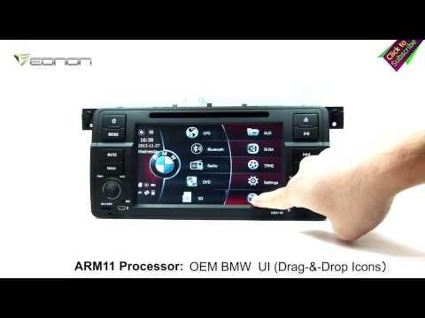 Eonon GM5150 BMW E46 Car DVD GPS with Screen Mirroring & OEM BMW UI & & NFC URC(Exclusive)