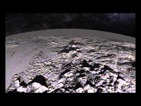 Анимация полета Над Плутоном. 17.07.2015