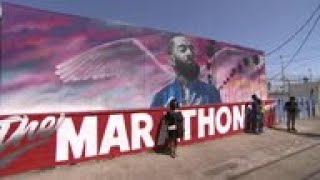 Street art of Nipsey Hussle in LA breathes life into legacy