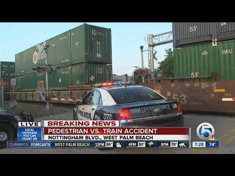 Train, pedestrian accident in West Palm Beach
