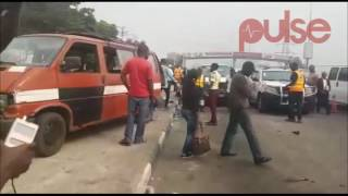 A Fatal Accident Scene At Lekki Phase One Roundabout | Pulse  TV