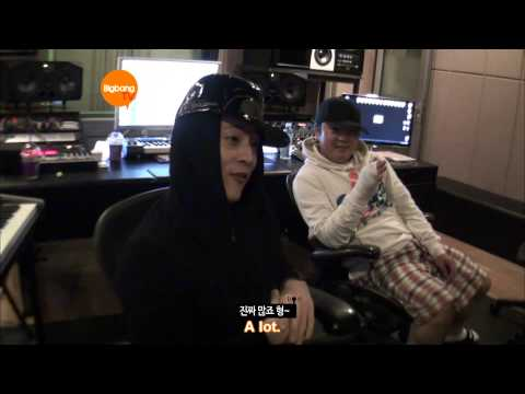G-dragon Working hanging Out With Teddy & Yg [hd] [eng] video