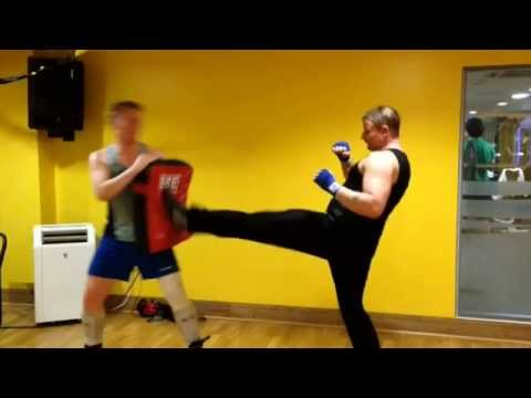 Savate tutorial. Chassé Frontal, Basic. Image 1