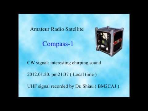 Amateur Radio Satellite Compass-1 CW signal 2012.01.20. pm 21:37 ( Taipei )