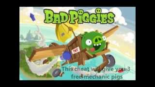 The Mechanic - Bad Piggies Cheat - How to get free mechanic pigs to skip a level (English)