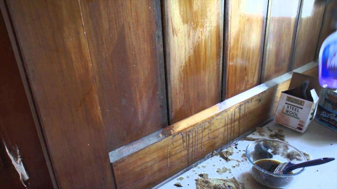 Refinishing Wood Panelling With Briwax Youtube