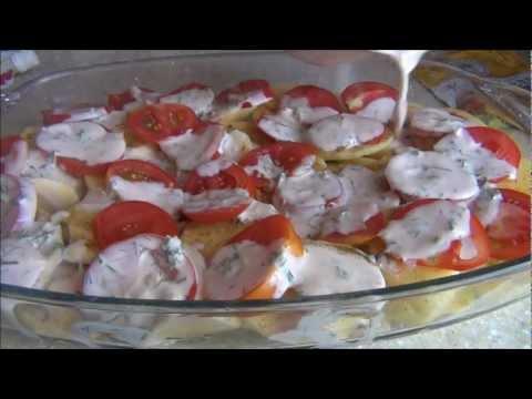 Запеканка из картофеля и кабачков. Готовим вместе