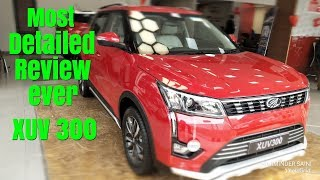 XUV 300 Review II XUV 300 Most Detailed Review in Hindi II XUV 300 W8 Review