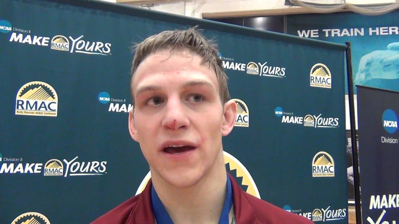 Drew Schumann (Colorado Mesa), 2016 RMAC 149 champion