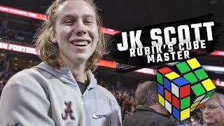 Watch Alabama punter JK Scott master a Rubik
