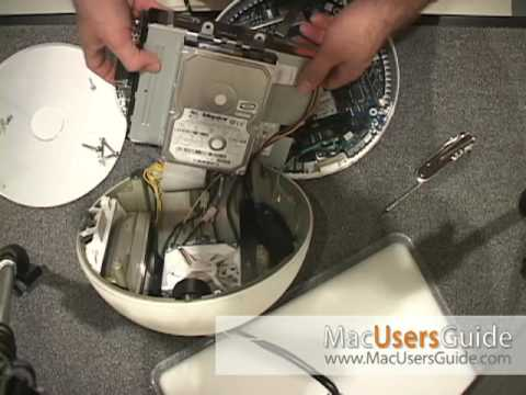 iMac G4 Upgrade ( Snowball ) Part 1: Replacing the iMac hard drive