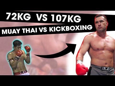 72KG Muay Thai Legend vs. 107 KG Kickboxing Legend   RIP Nokweed Davy