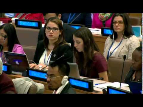 Ms. Jennifer Vinas Forcade - Latin American & Caribbean Youth Alliance - UN Post-2015 negotiations