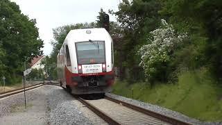 "SA133-021 - Arriva ""Leżak"" odjeżdża ze stacji Jastarnia"