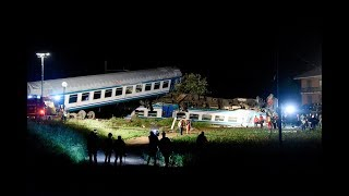 Two die, at least 20 injured in train accident in Italy