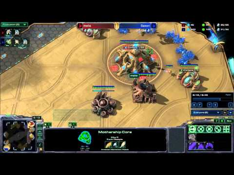 Starcraft II HotS 04 - PvP Sasori vs. meta Derelict Watcher TE