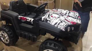 Xe ô tô điện trẻ em 2 chỗ ngồi Jeep địa hình A-6500 (Xe cho bé)