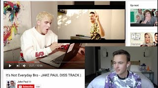 Reacting to people REACTING TO MY JAKE PAUL VERSE!! (It's Not Everyday Bro)