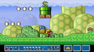 Super Mario Bros 3 HD FULL - Mundo 1 Fase 2 - World 1 - Grass Land