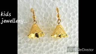 #KIDS JEWELLERY 2 #DIY #JHUMKA #ONE MINUTE JEWELLERY  CRAFT#jhumka cap earring