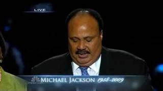 Martin Luther King III and Bernice King speech. Michael Jackson Memorial