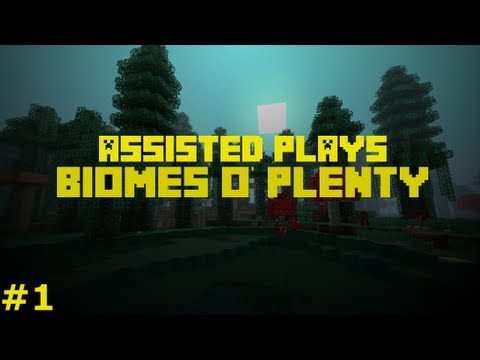 Let's Play Biomes O' Plenty #1 PURPLE TREE!? Minecraft
