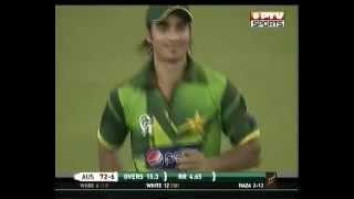 Raza Hasan 2-15 [4 overs] on debut vs Australia