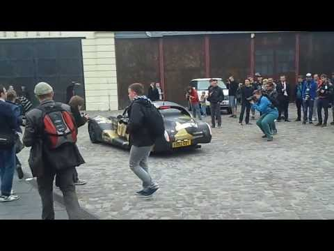 Gumball 3000 Krakow Checkpoint, Bentley Morgan Aero SuperSports - EVE and Maximillion Cooper