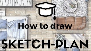 ✍🏼🤓How to draw a SKETCH-PLAN in 10 steps and 30 minutes