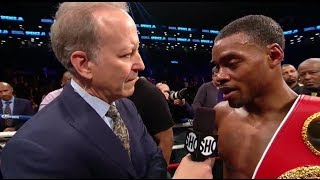 ERROL SPENCE HUMILIATES KEITH THURMAN IN POST INTERVIEW WITH JIM GRAY AFTER DEFEATING PETERSON