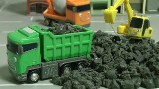 đồ chơi ô tô hoạt hình xe cần cẩu  Tayo The Little Bus Truck Toys 타요 장난감 중장비 트럭