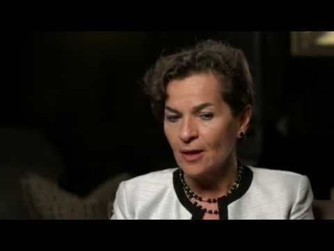Christiana Figueres talks about Weather Presenters