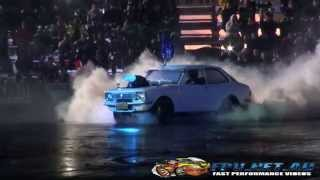 ULEGAL DRYING THE PAD SKID AT BURNOUTS UNLEASHED 23.8.2014