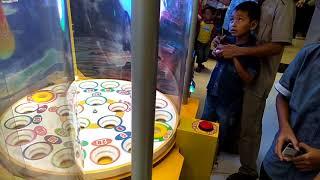 Permainan Anak Anak Di transmart bandar Lampung  malam taun baru 2018 bersama candra wijaya