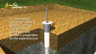 Grip Pile Foundation 3D animation