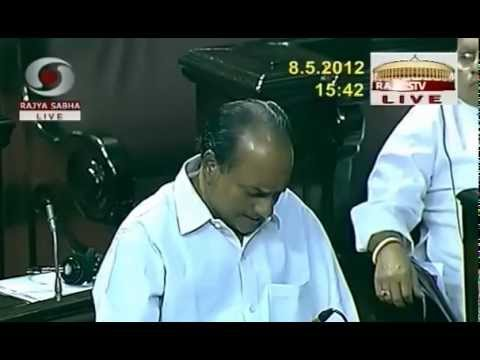 A.K.Antony speaking in Rajya Sabha on the working of the Ministry of Defence : May 8, 2012