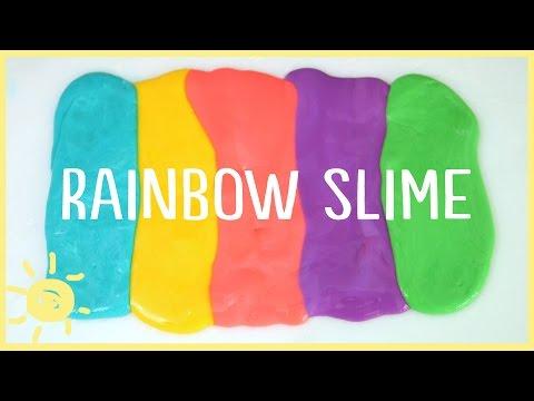 DIY   How to Make Slime Without Borax (Rainbow Slime!)