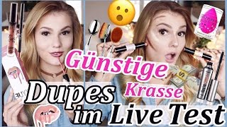GÜNSTIGE & KRASSE AMAZON DUPES im LIVE TEST I MEGA FAIL! Kylie Jenner, benefit, NYX...
