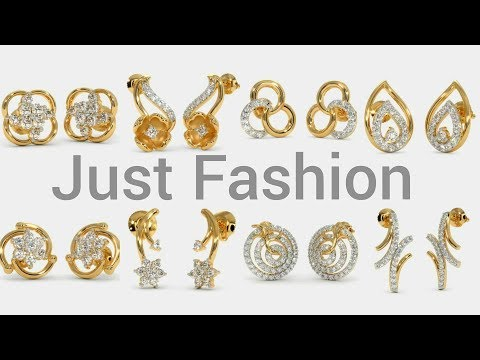 Designer gold and Gemstone Earring