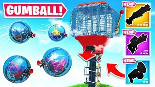 *GIANT* GUMBALL MACHINE For LOOT in Fortnite!