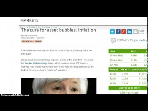 Janet Yellen and Bubbles