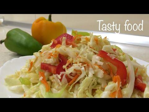 Быстрый салат из капусты болгарского перца и моркови