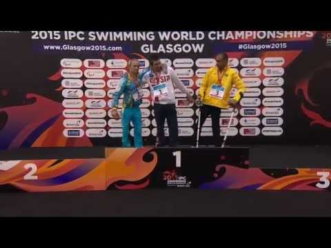 Men's 100m Backstroke S7 | Victory Ceremony | 2015 IPC Swimming World Championships Glasgow