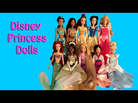 Disney Princess Doll Set Unboxing And Review - 10 Princesses